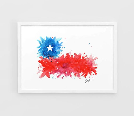 Chile Flag Copa America Football poster   A3 Art by NazarArt