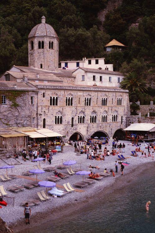 Castal and beach? What a dreamy vacation place.Camogli, province of La Spezia Liguria, Italy