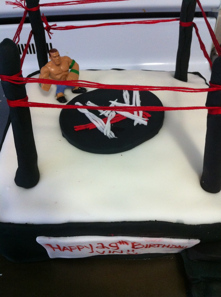 Made a wrestling cake for my brother's birthday