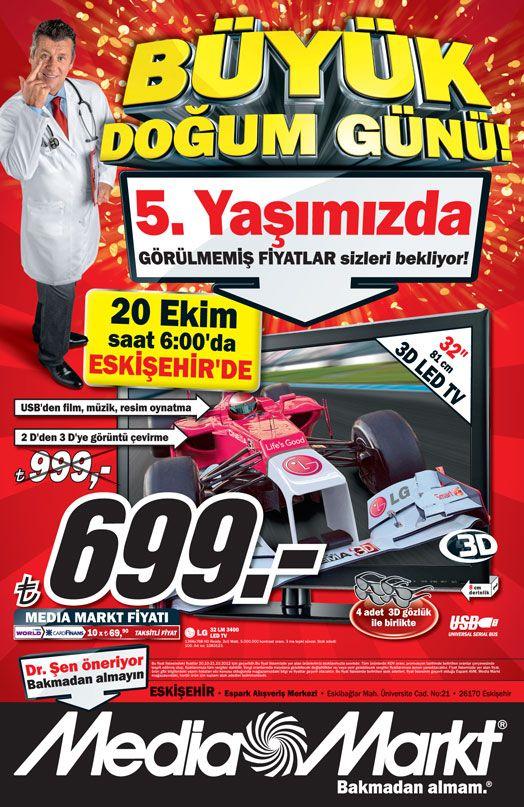 Media Markt Eskişehir 20-21 Ekim 2012  Büyük Doğum Günü İndirimleri
