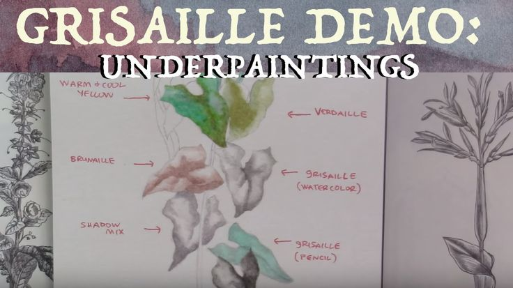 Underpainting (Grisaille) Variations Demo - YouTube