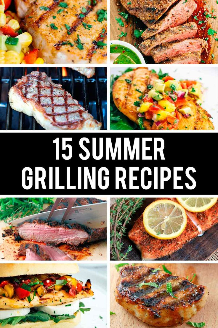 15 Summer Grilling Recipes: Burgers, Chicken, and More - Time to fire up the grill!   jessicagavin.com