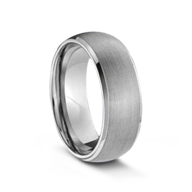 Matte Finish Tungsten Carbide Ring