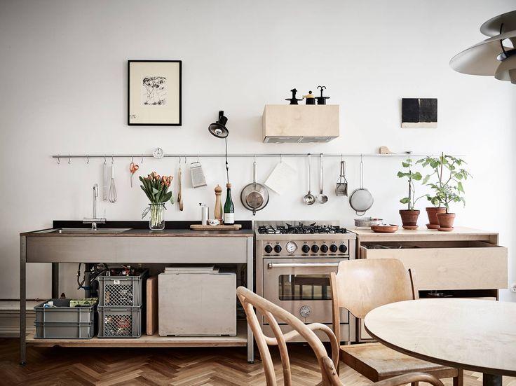 Warm minimalist home with custom built plywood furniture