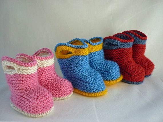 Knitting Pattern Baby Booties SPLISH SPLASH SPLOSH от LoveFibres