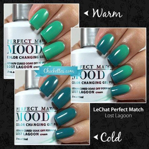 LeChat Perfect Match Mood Polish - Lost Lagoon - Best 25+ Mood Polish Ideas On Pinterest Mood Nail Polish
