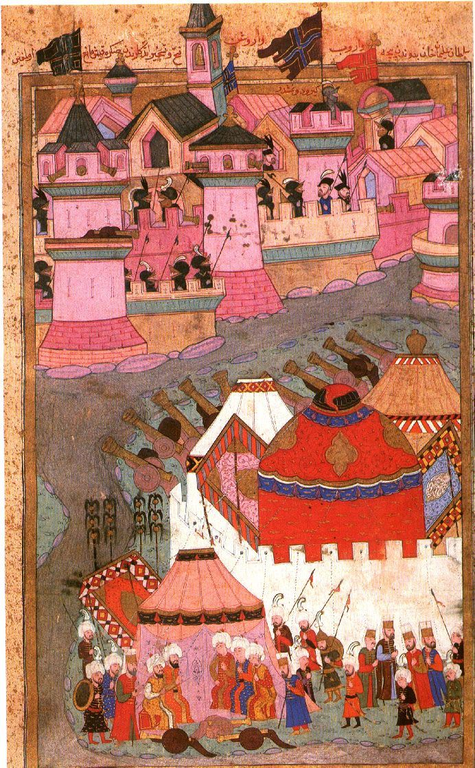 Siege of Vienna by Suleyman I the Magnificent, 1529-Hünernâme of 1588 by Lokman