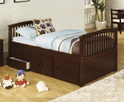 Nica en su estilo y muy funcional es la cama individual o for Cama queen size con cajones