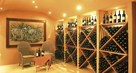 Wine cellar at Elephant Plains Game Lodge.  http://www.pridelodges.com/index.php/game-lodges/classic/elephant-plains/