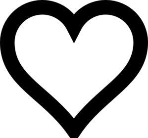 Heart Outline tattoo back of neck