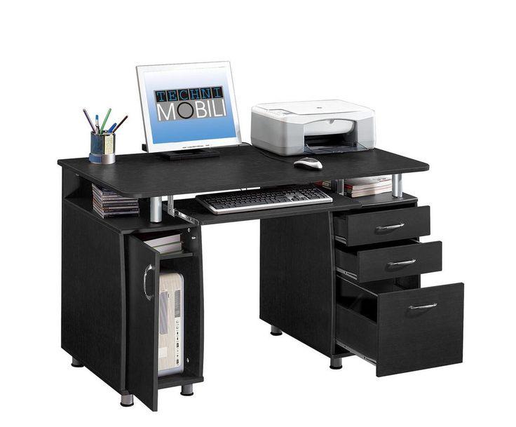 New Home Computer Workstation Desk with File Drawer Storage - Espresso #TechniMobili #Contemporary