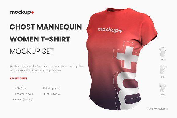 Realistic Women T Shirt Mockup Shirt Mockup T Shirts For Women Tshirt Mockup