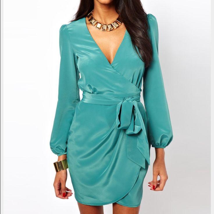 Asos Wrap Dress With Tulip Skirt !