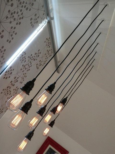 1000 idee n over edison kroonluchter op pinterest houten lampen industri le verlichting en - Licht industriele vintage ...