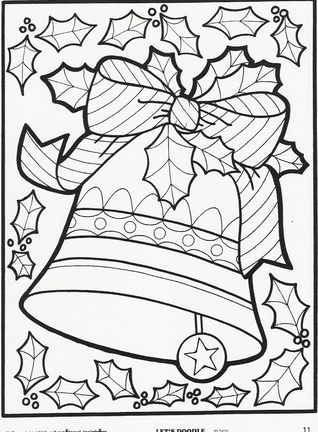 Christmas coloring page More Let's Doodle Coloring Pages!: