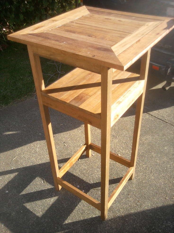 Custom made outdoor bar table made from hardwood orders for Outdoor hardwood timber