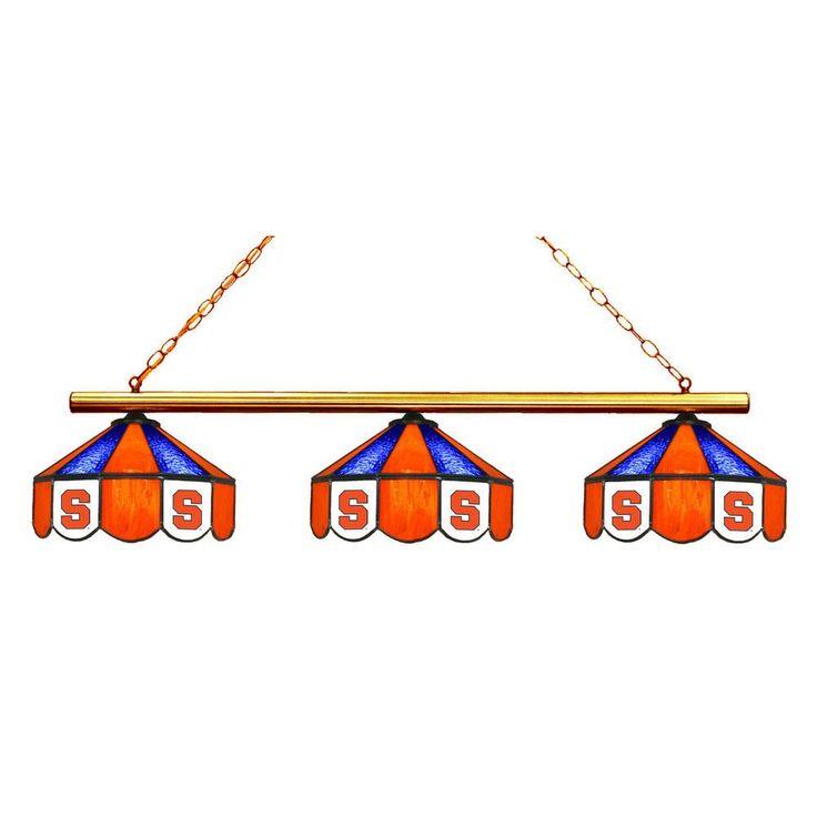 3 Pendant Syracuse Orange Chandelier w/ Tiffany Lampshades