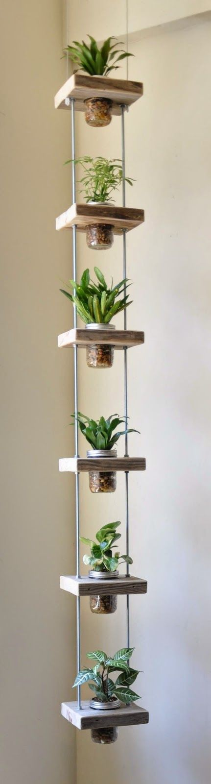 Vertical garden perfect for small balconies, hang them up on a Balco balcony www.balco.eu