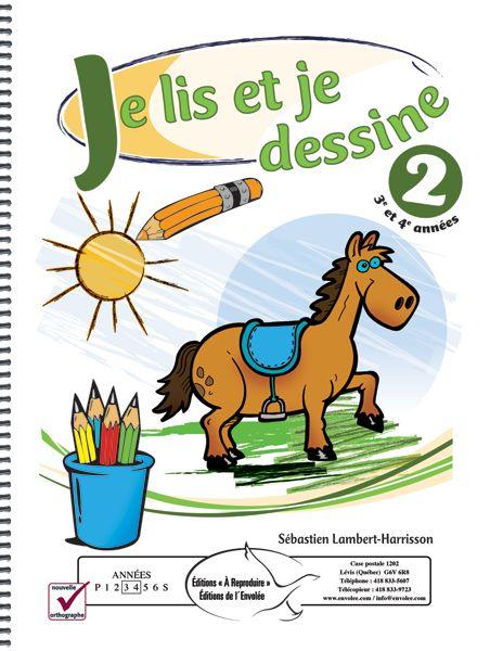Je lis et je dessine 2 - L'élève doit compléter une illustration en suivant les consignes qui lui sont données. Il peut donc développer sa compréhension en lecture tout en s'amusant. Il s'agit d'un excellent outil qui permet au pédagogue de s'assurer que l'élève comprend ce qu'il lit.
