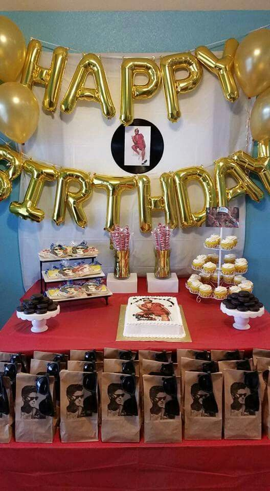 Cake Table Set Up Bruno Mars Party 24th Birthday