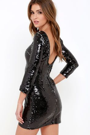 1000  ideas about Black Sequin Dress on Pinterest | Black sequins ...