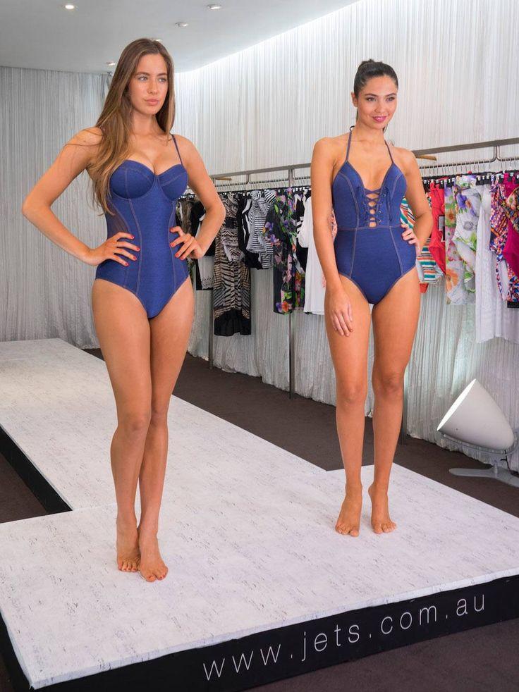 The models showcase new season styles featuring Jets Swimwear Fusion  Shop Fusion Here: https://www.jets.com.au/shop/browse?story=721  #JETSSwimwear