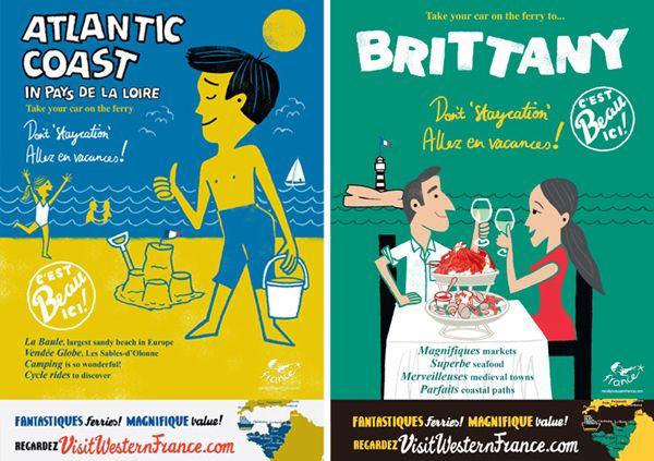 Visit France poster designs: Posters Designs, Picture-Black Posters, France Posters, Poster Designs, Design Stuff