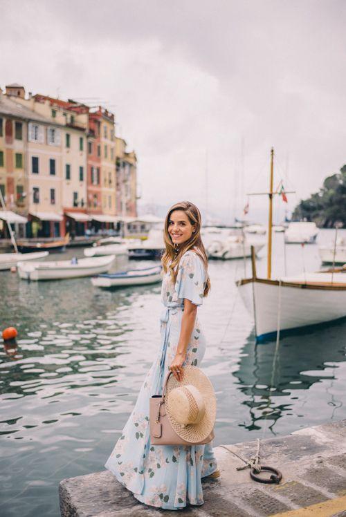 Gal Meets Glam Portofino Views - Privacy Please dress and Preston & Olivia hat