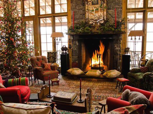 Love Christmas!: Christmas Time, Window, Dreams Living Rooms, Dreams House, Rustic Christmas, Christmas Decor, Christmas Trees, Cabins Christmas, Cozy Christmas