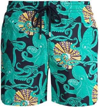 VILEBREQUIN Moorea Octopussy et Coquillages-print #swimshorts #summerwear #beachwear #menswear