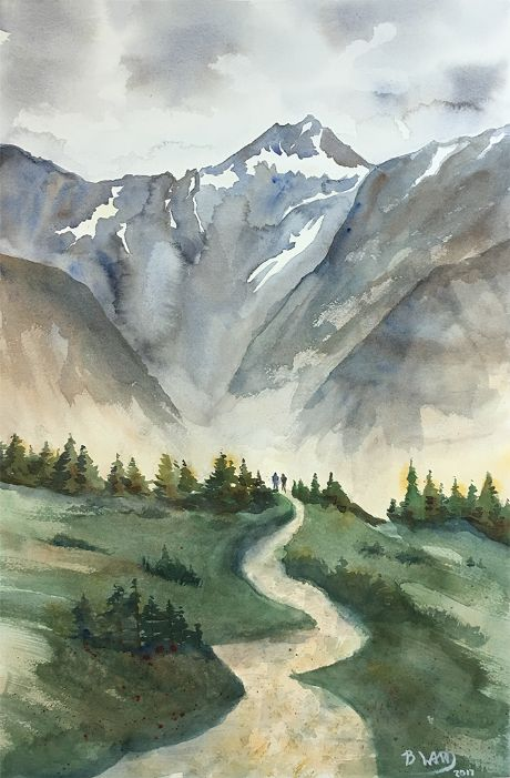 Check out Canadian Ridgeline by BeccaWard  | Original Art | https://www.vangoart.co/beccaward/canadian-ridgeline @VangoArt