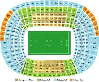 План стадиона Камп Ноу Camp Nou в Барселоне
