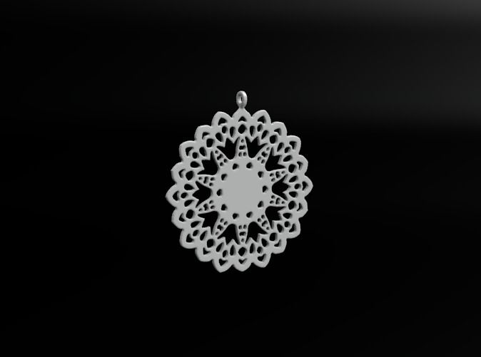 Design for earring - SK0026A by vanca - 3D printed jewelry - bizhuteri