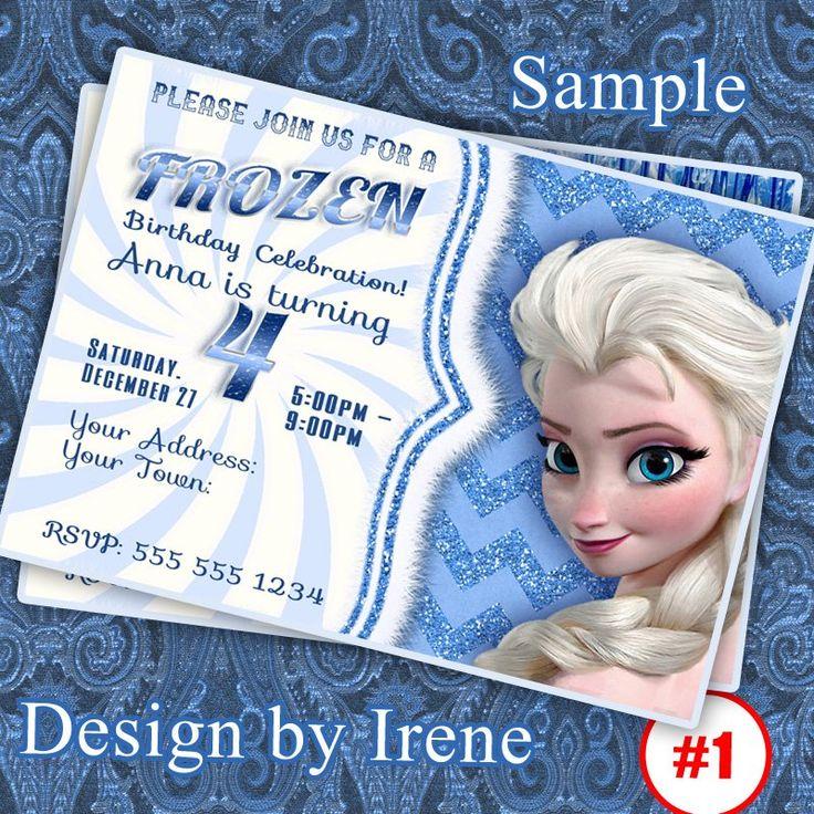 Frozen Birthday Invitation, Frozen printable. Digital Downloads File.