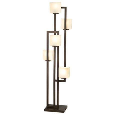floor lamp lamps plus possini euro lighting on the square 5 light. Black Bedroom Furniture Sets. Home Design Ideas