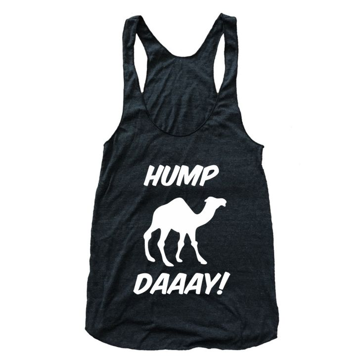 Hump Day Camel Print Athletic Tri-Blend Racerback Tank