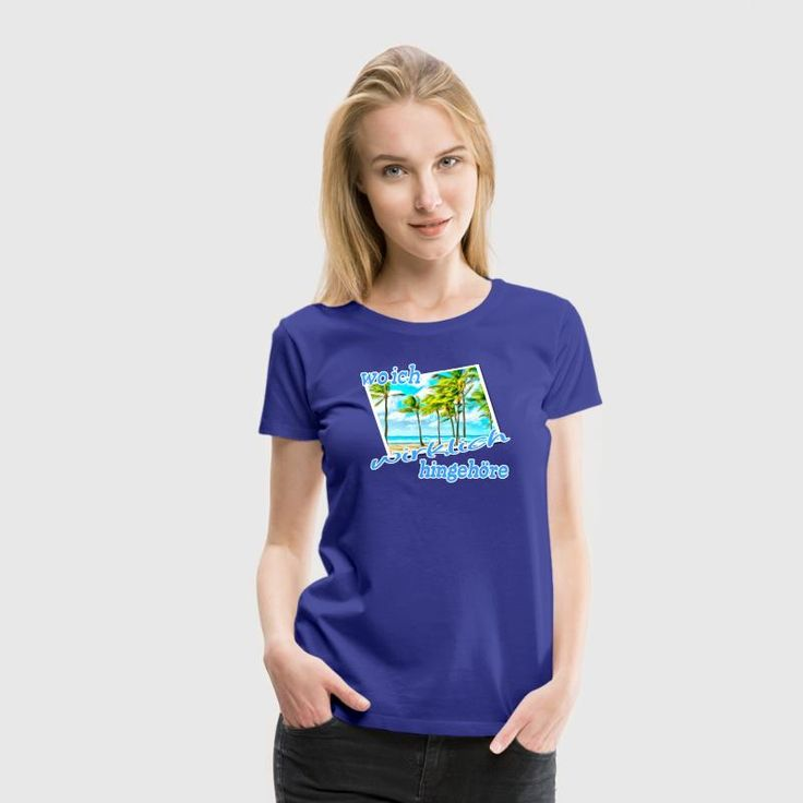 """""""Wo ich wirklich hingehöre"""" - Perfektes Palmen-Motiv auf hochwertigen Shirts und Geschenken für alle Strandliebhaber. Ab in den Süden! #süden #palmen #strand #karibik #strandurlaub #urlaub #urlauber #ferien #auszeit #auswandern #südsee #traum #sprüche #reise #shirts #geschenke"""