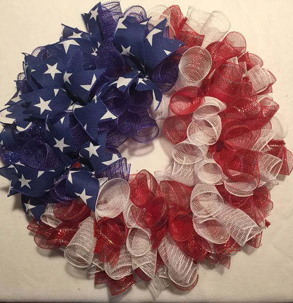 4th of July wreath, flag wreath, Fourth of July wreath, American flag decor, Patriotic wreath, 4th of July, July 4th wreath, flag wreath