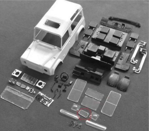 RC Car Parts 1/10 Scale Rock Crawler Xtra Speed D90 Hard Plastic Body Shell Interiors System Kit 4WD Accessory