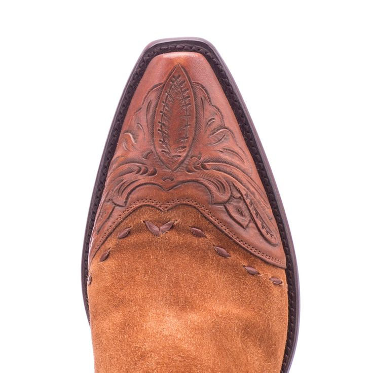 Stallion Boots Hand Tooled Calfskin on Suede Zorro - Ladies - Cowboy Boots - AXEL'S - 3