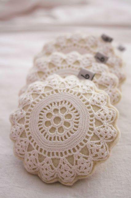 felt cvintage lace filled with lavender