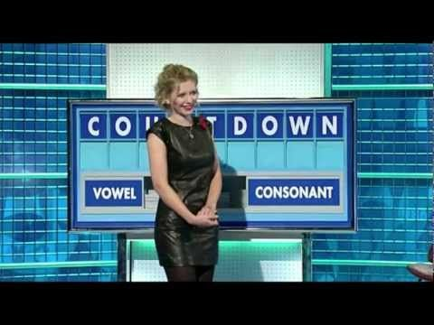 Rachel Riley - Sexy In Leather Dress Black TIghts & Heels - YouTube