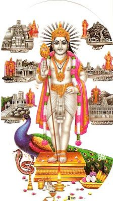 Picture of Lord Muruga and Arupadai Veedu in -http://www.hindudevotionalblog.com/2011/12/lord-muruga-pictures-photos-gallery.html