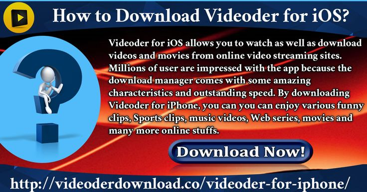 Videoder for iOS allows you to watch as well as download videos and movies from online video streaming sites. Millions of user are impressed with the app because the download manager comes with some amazing characteristics and outstanding speed.  Website Link : http://videoderdownload.co/videoder-for-iphone/