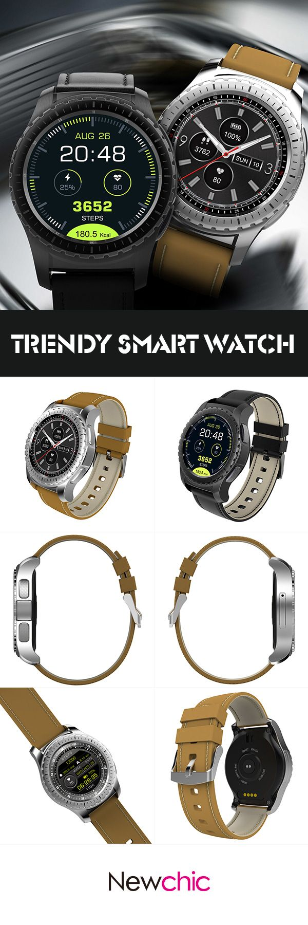 [Newchic Online Shopping] 58% OFF Trendy Smart Watch