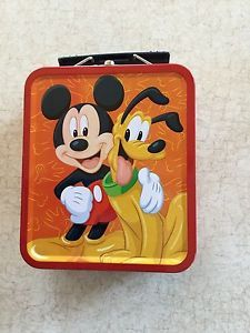 a mickey pals mini tin lunch box mickey and pluto 5 12 x 4 34