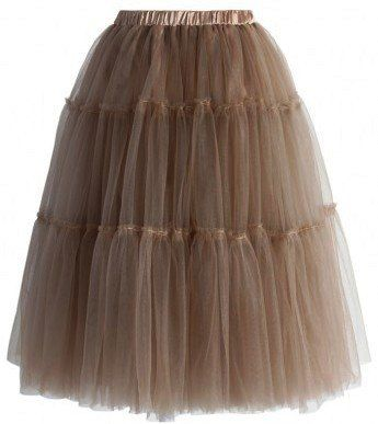 Chicwish ( シックウィッシュ )ふんわり キュート チュール スカート Amore Tulle Midi Skirt in caramel キャラメル スカート ウエスト ゴム 仕様 ティアード 海外ブランド CHIC WISH http://www.amazon.co.jp/dp/B00XXBHYT8/ref=cm_sw_r_pi_dp_y4bxvb05EAP3G