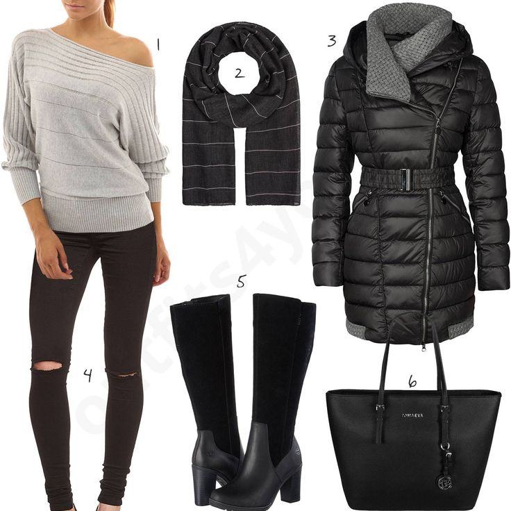 Damen-Style mit Only Jeans und hohen Timberland Stiefeln (w0887) #pullover #winter #jacke #stiefel #outfit #style #fashion #womensfashion #womensstyle #womenswear #clothing #frauenmode #damenmode #handtasche  #inspiration #frauenoutfit #damenoutfit