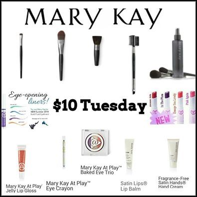 $10 Tuesday!!!!Text or call me 704 747 0231 www.marykay.com/theresacavada www.facebook.com/theresa.m.cavada