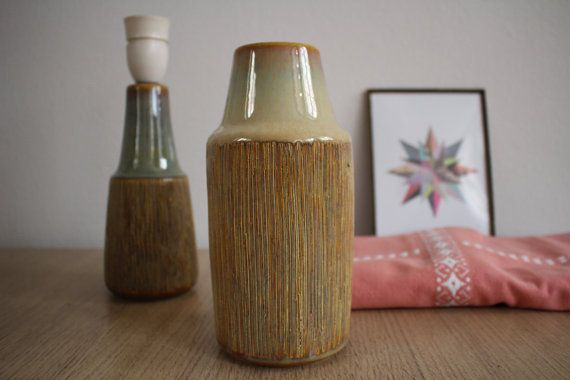 Soholm Søholm vase  yellow / brown glazing  by NordicThings